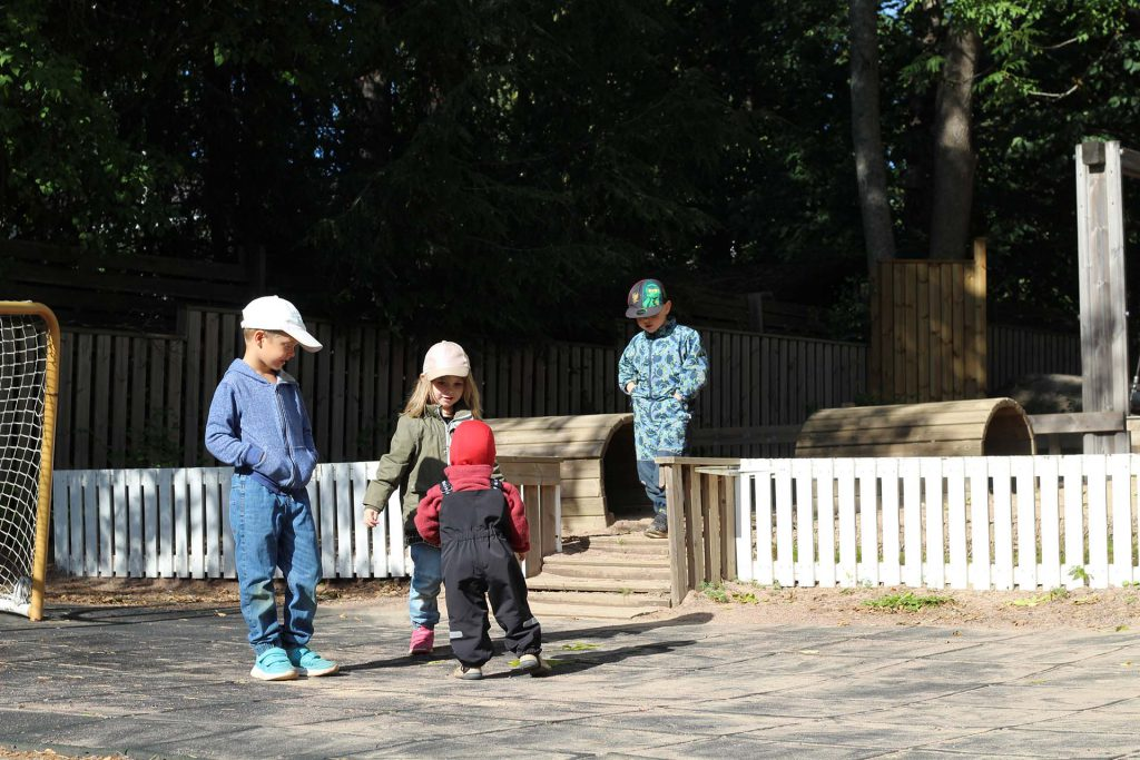 Children out on a sunny day